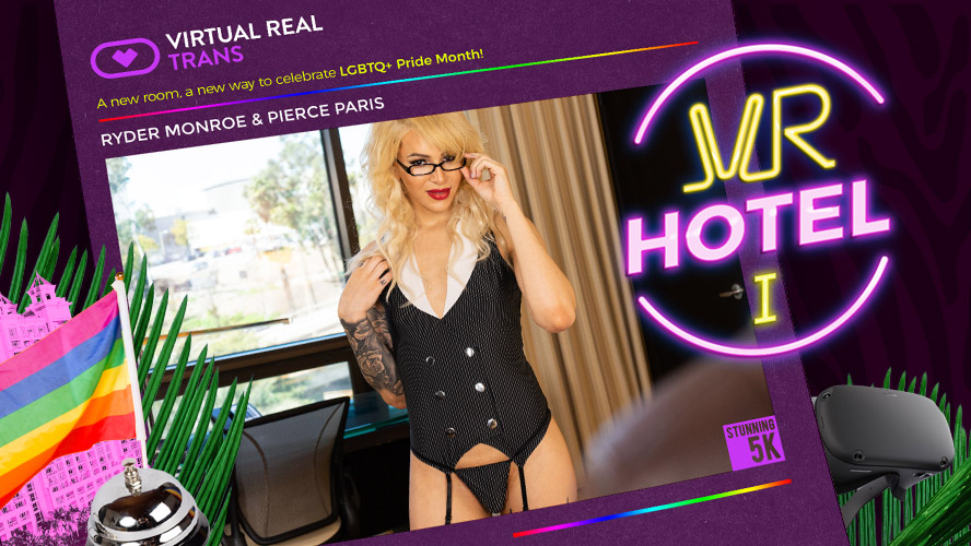 blonde shemale VR Sex